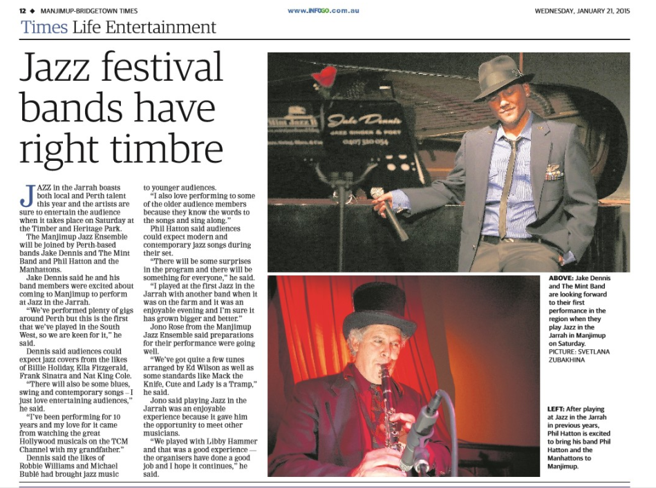 Manjimup-Bridgetown News (Jazz in the Jarrah event)
